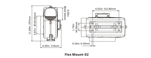 SEAFLO 320CFM Flex Mount Bilge Blower Boat Ventilation Marine 12V 4 Yr Warranty