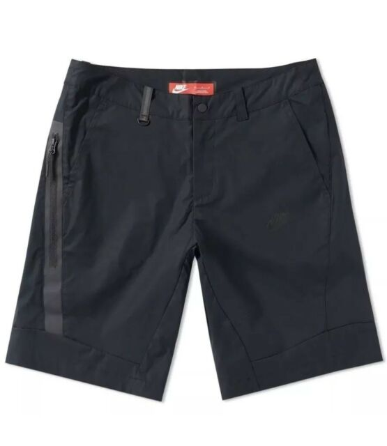 dd1631da43d73 Nike Sportswear Bonded Shorts Triple Black Slim Fit SZ 34-36 ( 823365-010