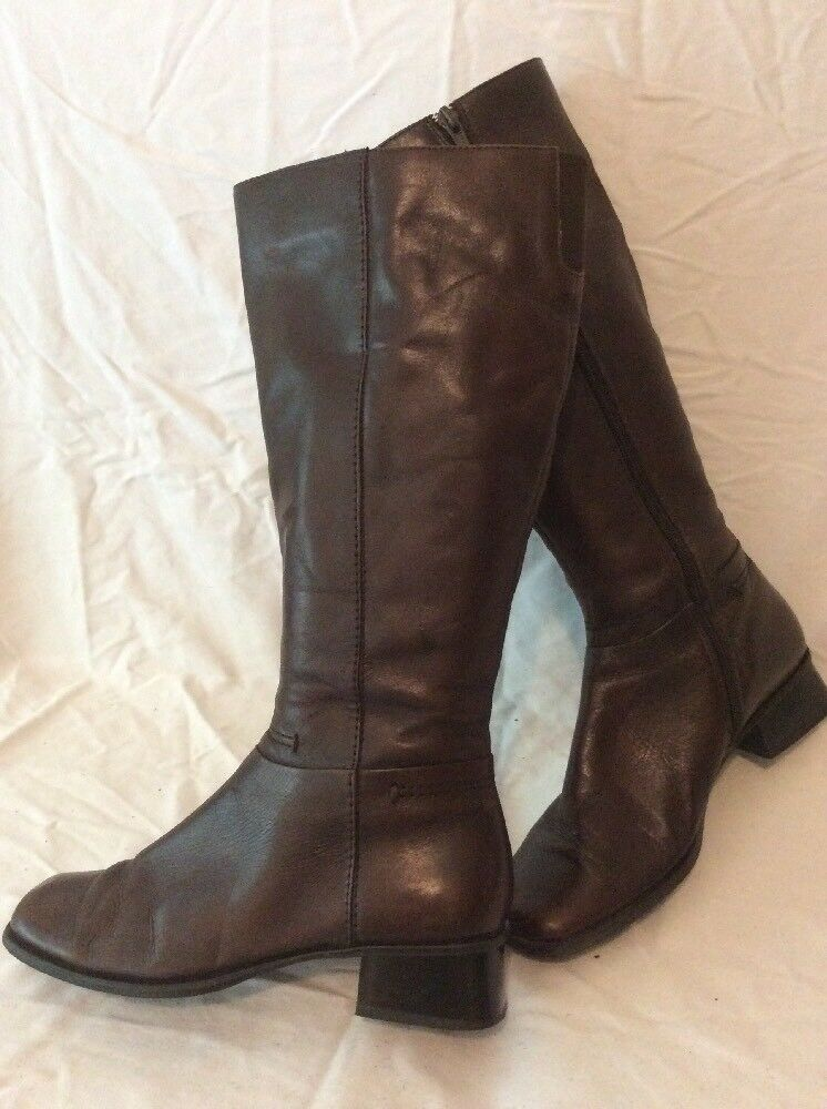 Sandler Brown Mid Calf Leather Boots Size 38