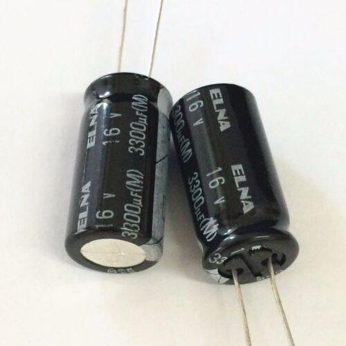 15pcs 16V 3300uF 16V Japan ELNA RJ4 12.5x25mm Audio Capacitor