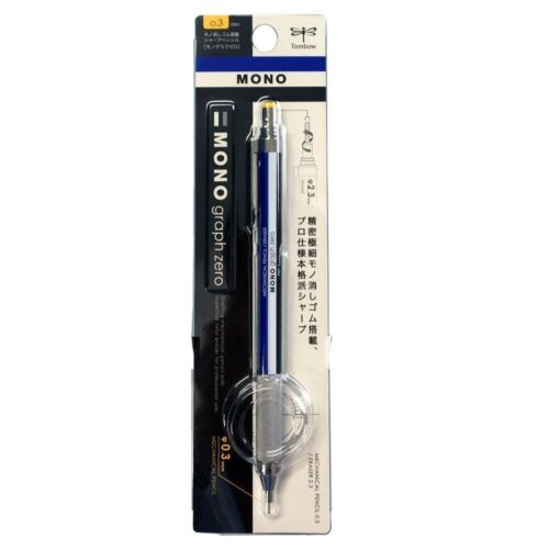 TOMBOW DPA-161A MONO graph zero Mechanical Pencil with Eraser 0.3mm #Standard
