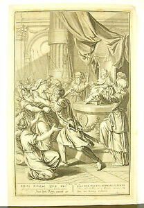 Joas-Judas-Jehoash-Fait-King-And-Athalie-Hunted-Engraving-C-1730-La-Bible