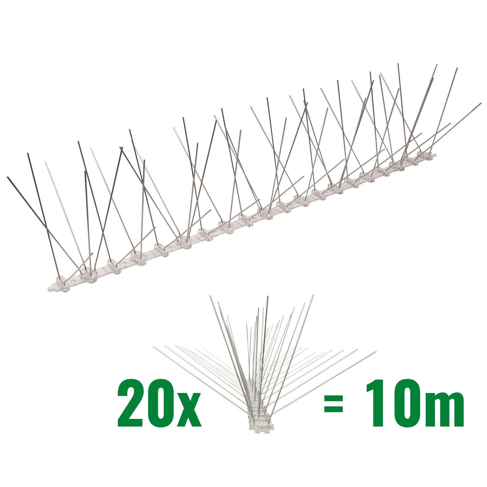 10 Meter 5-reihig Taubenspikes Taubenspikes Taubenspikes auf Polycarbonat - Vogelabwehr Taubenabwehrspikes f0f508