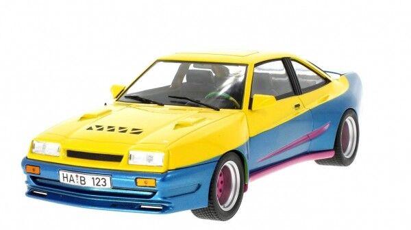 MCG Opel Manta B Mattig 1991 jaune-bleu 1 18 dans un film Manta-Manta 18095