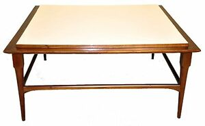 Image Is Loading Mid Century Modern Square Coffee Table With White
