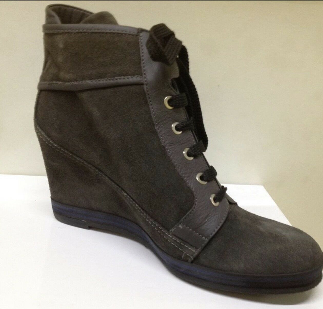 Suede damen's damen's damen's Fashion Trainers Wedges Made in  EUR 41 UK 8 Dark grau 6a27a9
