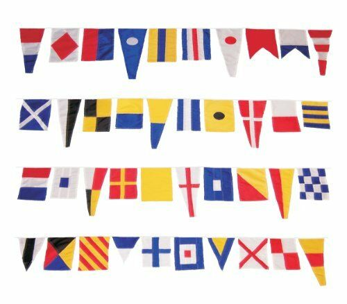 Maritime Signal Flags String of 40 Nylon Fabric and Nylon Cord BESTSELLER