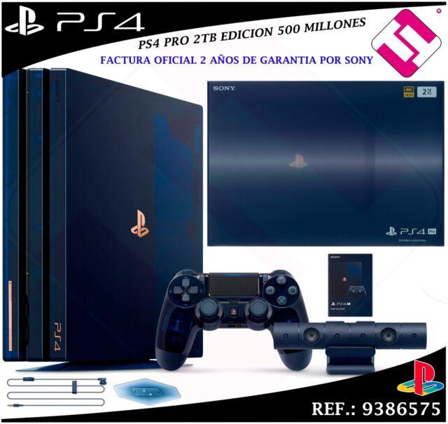 VIDEOCONSOLA SONY PS4 PRO 2TB PLAYSTATION 500 MILLONES 50000 OFERTA FACTURA SI