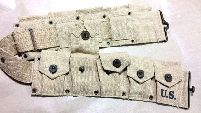 WWII US M1 Garand Cartridge Belt (10 Pocket) - Repro