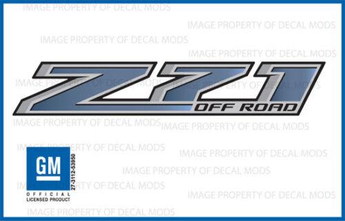 2 Z71 Off Road GMC Sierra 2014-2018 Decals Stickers Fade Blue Stone GRBLUSTN