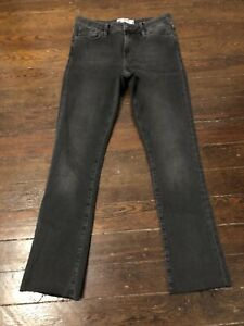 femmes 27 taille haute Free Grey Black brut taille People ourlet Jean CqPBw7