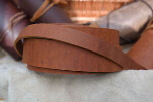 48-034-LONG-3-6mm-THICK-STRAP-VINTAGE-LOOK-COWHIDE-LEATHER-SADDLE-TAN-VARIOUS-WIDTH
