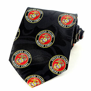 Marine corps mens necktie american military marines patriotic black image is loading marine corps mens necktie american military marines patriotic ccuart Images