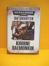Warhammer 40k - Chaosdämonen - Datakarten - Khorne Daemonkin