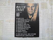 WALTER TROUT - lovely colour tour flyer (MINT)