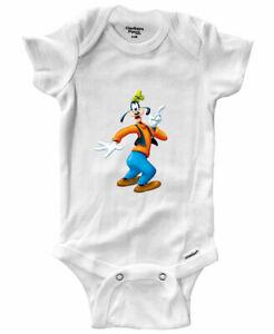 Infant Gerber Baby Onesies Bodysuit Clothes Newborn Gift Goofy Goof Cartoon