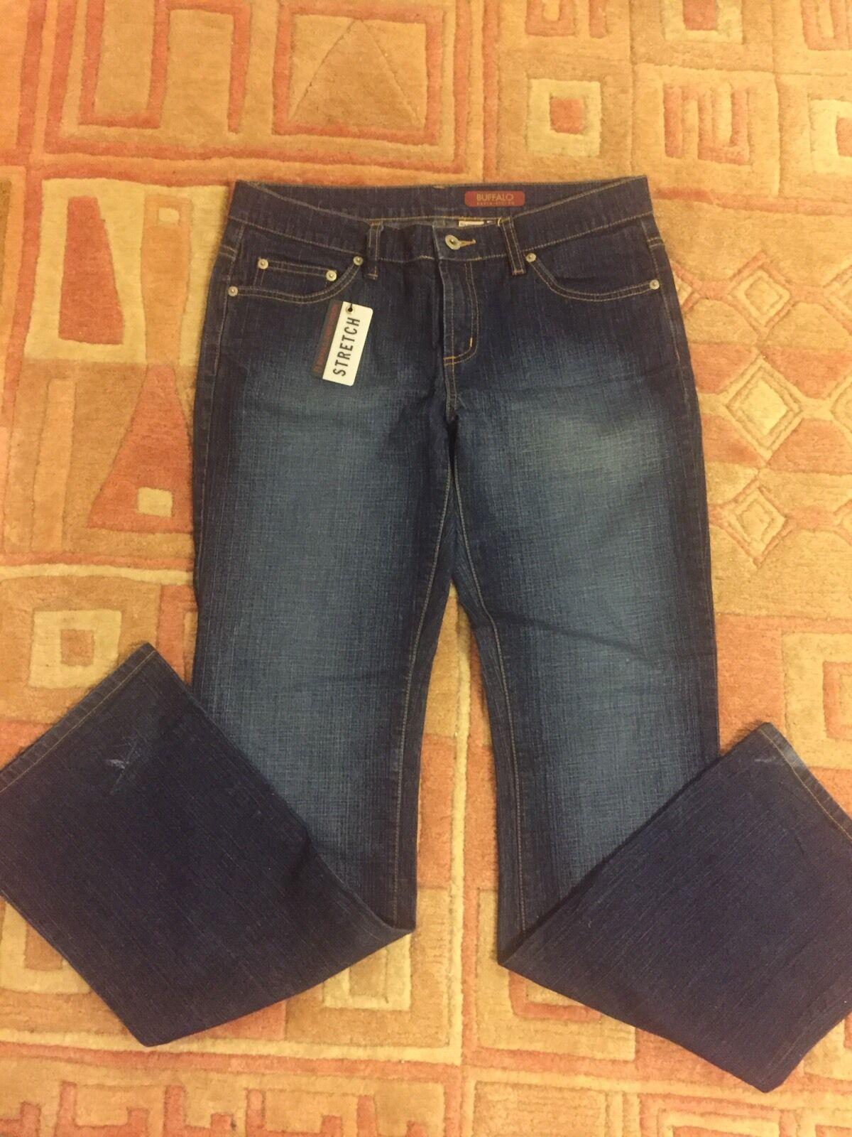 NWT Buffalo David Bitton Womens Size 29  Mid Rise Stretch Flare Denim Jeans
