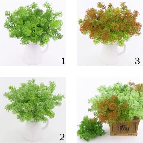 35cm Künstliche Moos Blätter Gras Pflanzen für Haus Tischdekoration Grün