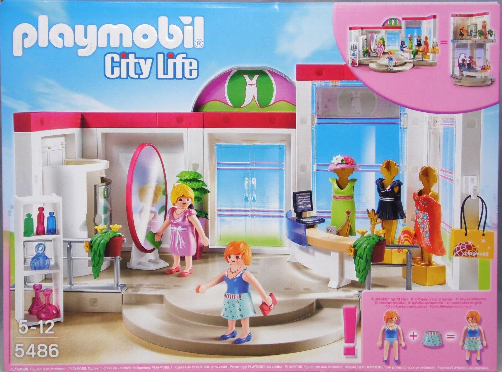 Playmobil 5486 Modeboutique mit Figuren Einrichtung Kleidung zu Kaufhaus NEU