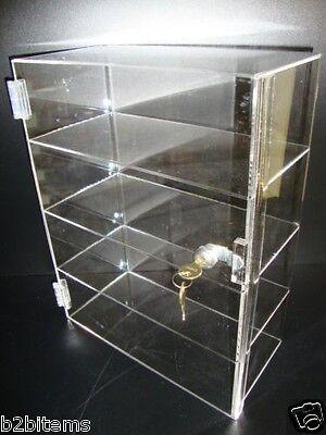 "Acrylic Countertop Display Case 12"" x 7"" x 16"" Locking Security Showcase CUPCAKE"