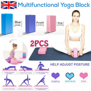 2pcs yoga block pilates fitness up stretching foaming