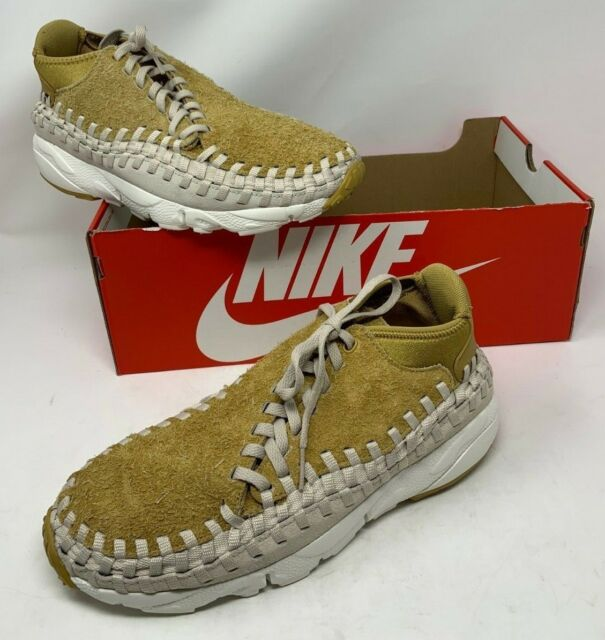 on sale d0271 97825 NWB Nike Air Footscape Woven Chukka QS Gold Orewood Brown 913929-700 Men s  10