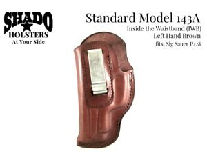 SHADO-Leather-Holster-Standard-Model-143A-LH-Brown-IWB-Fits-Sig-Sauer-P228