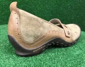 Merrell-Shoes-Mary-Janes-Casual-Driving-Loafer-Tan-Leather-Women-s-Size-8M
