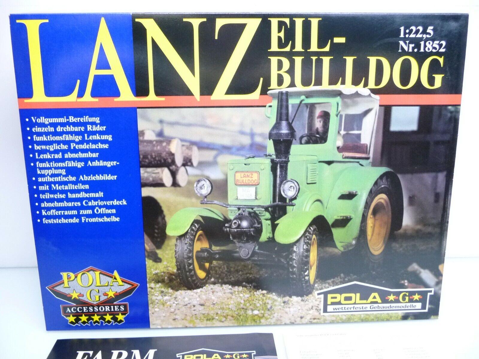 Pola 1852 G 1  22,5 Lanz Express  Bulldog verde comme Neuf Top  Rareté