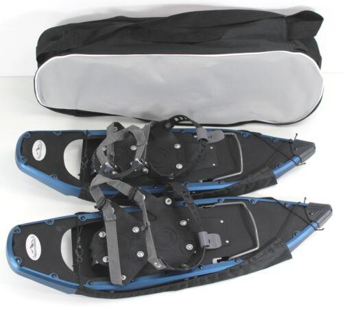 ALPIN Schneeschuhe ALU Rahmen Tiefschnee 100 kg Eis Steighilfe ~yx-3772 Blue