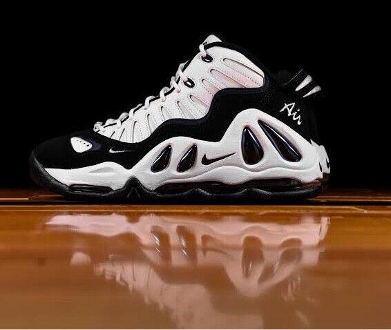 8.5 MEN'S Nike Air Max Uptempo 97 399207 101 Pippen White Black SNEAKERS