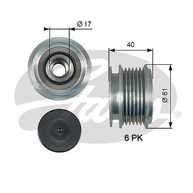 GATES OAP7013 Alternator Freewheel Clutch