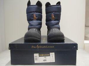 separation shoes 6fa32 0af1e Dettagli su Stivali bambino numero 31.5 da pioggia e neve Polo Ralph Lauren.