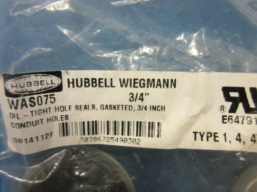 """3//4/"""" Hubbell WAS075 Oil Tight Hole Seal Gasketed Conduit Holes"""