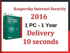 KASPERSKY INTERNET SECURITY 2016 1PC/1YEAR | DOWNLOAD | GET CODE 10 Seconds