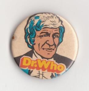 V-RARE-Doctor-Who-Jon-Pertwee-Sugar-Smacks-badge-pin-1971