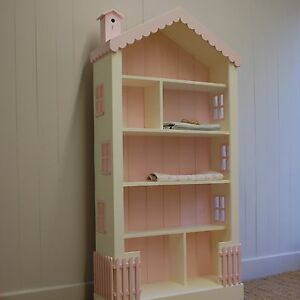 Dollhouse-Large-Bookcase-6-Ft-High-15-Wood-Paints-Stains-Cottage-Style-New