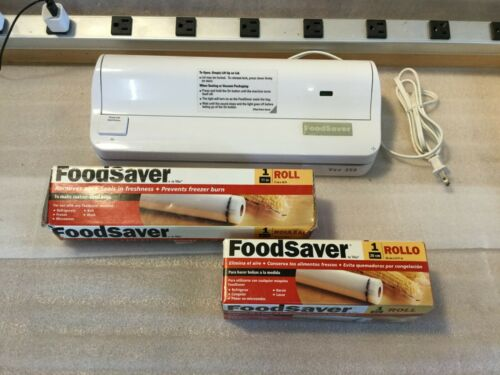 FOODSAVER VAC350 FOOD VACUUM SEALER EASY ONE BUTTON OPERATION UNIT with bags