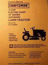 craftsman 17 hp lt1000 lawn tractor owners manual with illustrated rh ebay com Craftsman LT1000 User Manual Craftsman LT1000 Parts Manual