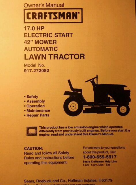 craftsman lt1000 mower owners manual
