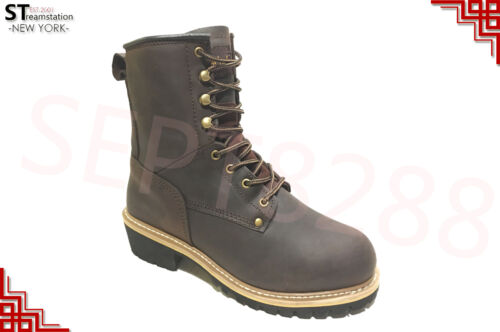 LM Men/'s Work Boots Rugged Pioneer Logger Boot Steel Toe Good Year Welt 5001ST