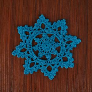 4Pcs-Lot-Blue-Vintage-Lace-Doilies-Hand-Crochet-Cotton-Doily-Mats-Snowflake-15cm