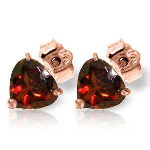 Genuine-Garnets-Gemstone-Hearts-Stud-Earrings-in-14K-Yellow-White-or-Rose-Gold
