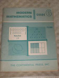 Vintage-1968-Modern-Mathematics-Grade-6-Six-unused-clean-USA-Albert-Filano