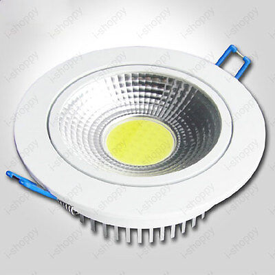 Dimmable 10W LED COB Recessed Lamp Ceiling Light Fixture Cabinet Exhibition Hall