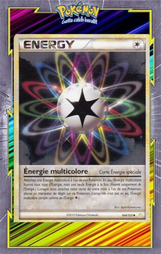 104//123 card pokemon french new Energie multicolored-hs heartgold soulsilver