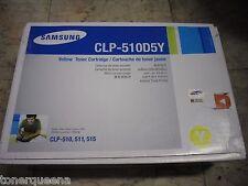 New ! Genuine Samsung  CLP-510N CLP-511 CLP-515 Yellow H/Y Toner CLP-510D5Y