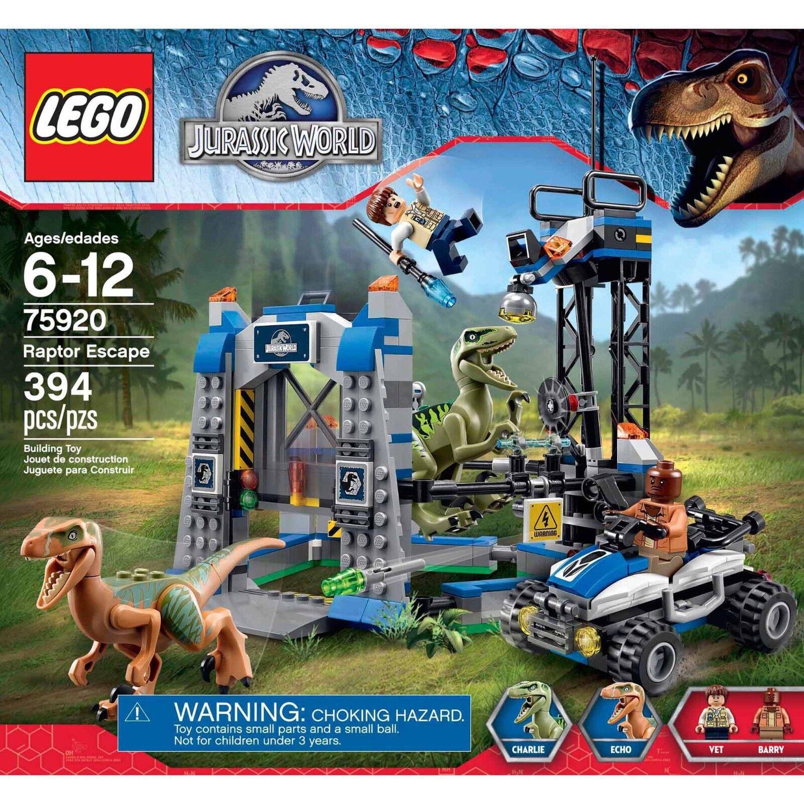 Rare LEGO Set 75920 Jurassic World Raptor Escape New In Box. Instant Classic.