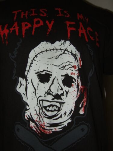 The Texas Chainsaw Massacre Leatherface This Is My Happy Face Horror Movie Shirt