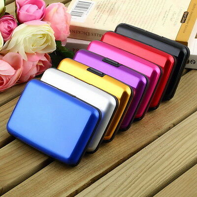 Mini Wallet Waterproof Aluminum Metal Case Holder for Business ID Credit Card I5